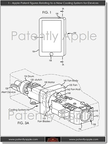 Apple: COOLING SYSTEM FOR MOBILE ELECTRONIC DEVICES-patent-099122-cooling-iphone.jpg