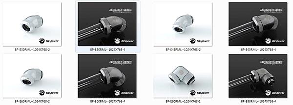 """Bitspower Enhance Rotary G1/4"""" 30/45/60/90-Degree Multi-Link Adapter.-bp-e.jpg"""