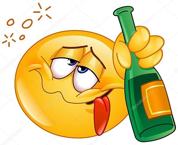 Una cascata di salsicce di auguri a...-depositphotos_62331267-stock-illustration-drunk-emoticon.jpg