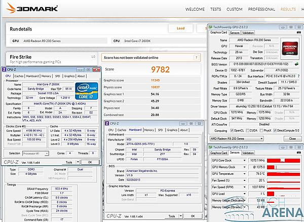 Clicca sull'immagine per ingrandirla  Nome:   AMD Radeon R9 290 Overclock 3DMark.jpg Visite: 236 Dimensione:   435.9 KB ID: 33231