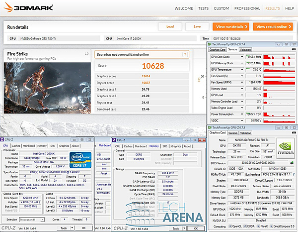 Clicca sull'immagine per ingrandirla  Nome:   NVIDIA Geforce GTX 780 Ti  3DMark OC.jpg Visite: 256 Dimensione:   361.4 KB ID: 33281