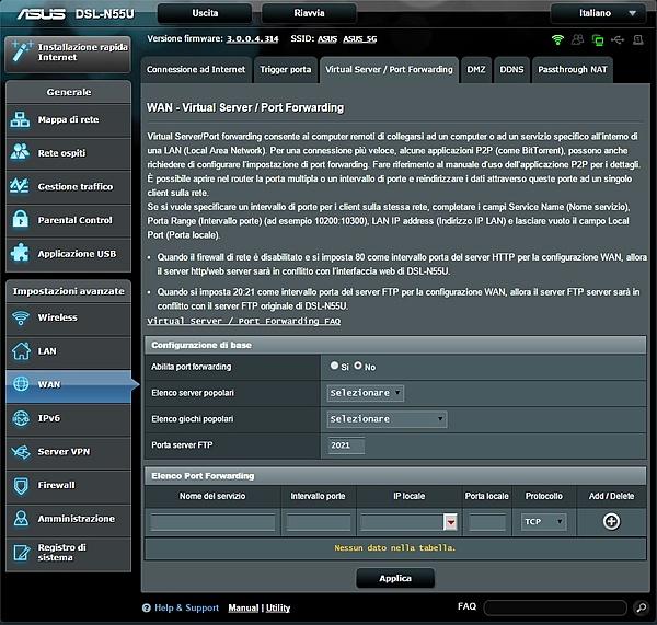 configurazione ASUS DSL-N55U + Switch HP ProCurve 1810G-wan3.jpg