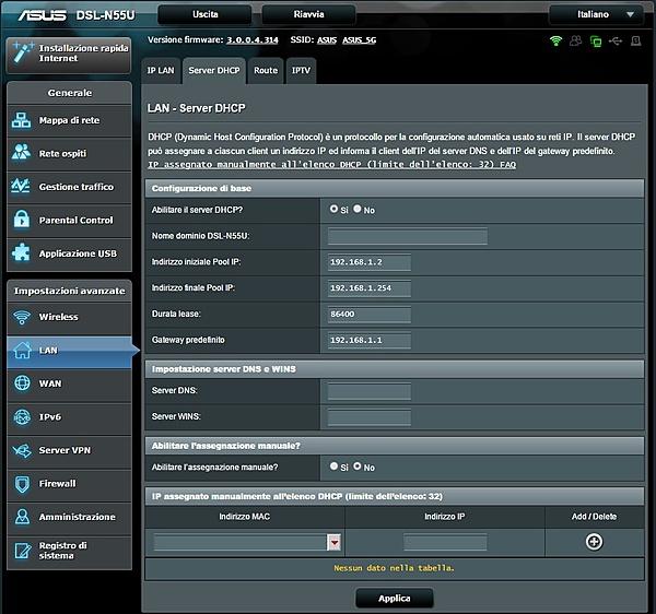configurazione ASUS DSL-N55U + Switch HP ProCurve 1810G-server-dhcp.jpg