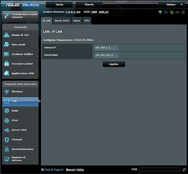 configurazione ASUS DSL-N55U + Switch HP ProCurve 1810G-iplan.jpg