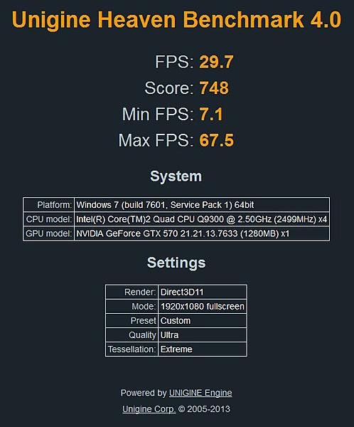 Risultato test Heaven Benchmark 4.0 su vecchia e nuova configurazione-q9300.jpg
