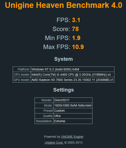 Clicca sull'immagine per ingrandirla  Nome:   Screenshot-2017-12-20 Unigine benchmark results.png Visite: 136 Dimensione:   29.8 KB ID: 45552