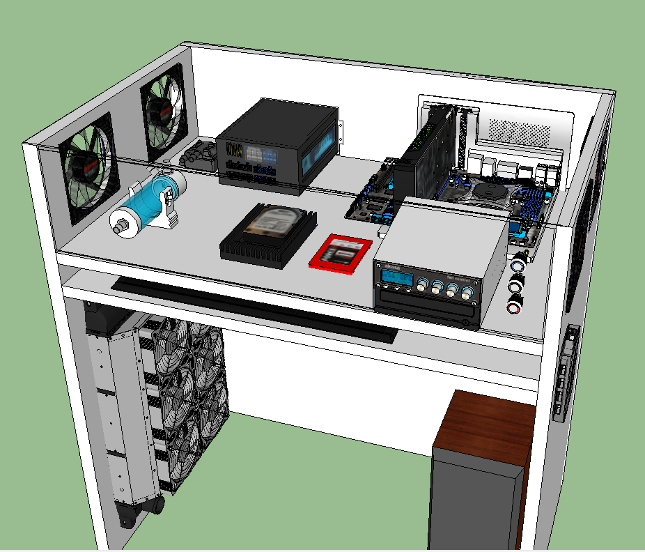 Autocostruito desk case for Creare case