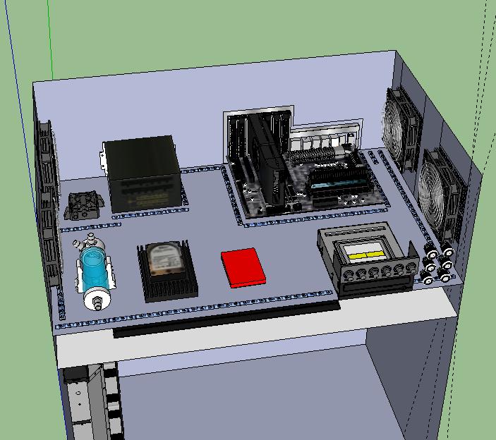 Autocostruito Desk Case