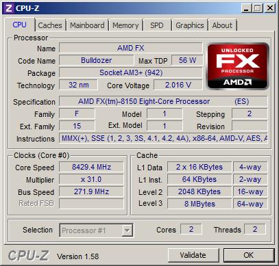 Record mondiale di frequenza AMD FX Bulldozer a 8,429 GHz-cpu-z-8429-4-mhz.png