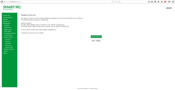 Firewall pfSense 2.2.6 Alix + SmartRG SR505N VDSL2 1 Static IP-accesslistsmartrg.png