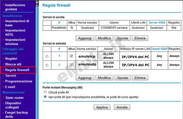 Velocita' connessione Alice-netgear834_regolefwcompilate.png