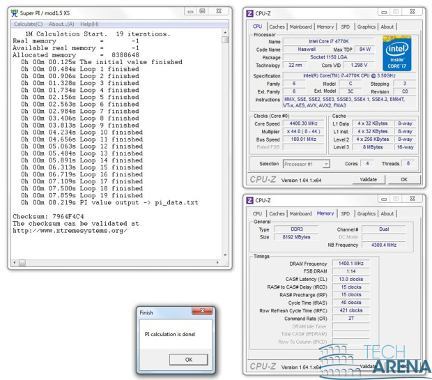 Intel Haswell I7 4770K test in OC