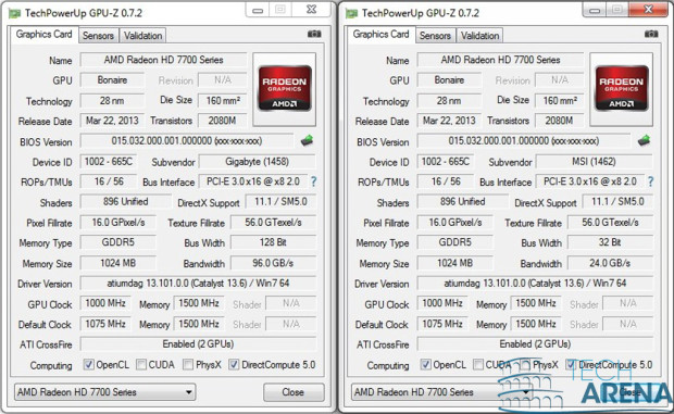AMD Radeon HD 7790 CrossFire GPU-Z