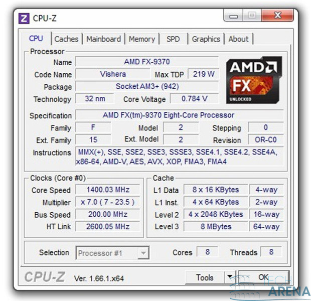 AMD FX 9370 CPU-Z idle